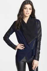 Blanknyc Private Practice Mixed Media Moto Jacket - Lyst