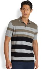 Boss Green Paddy Striped Polo Shirt - Lyst