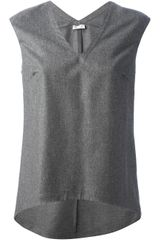 Brunello Cucinelli Sleeveless Top - Lyst