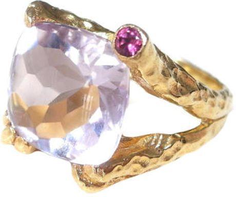 Choo Yilin Pink Amethyst Branch Ring In Pink Lyst