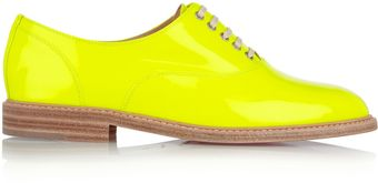 Christian Louboutin Havana Patent-Leather Brogues - Lyst