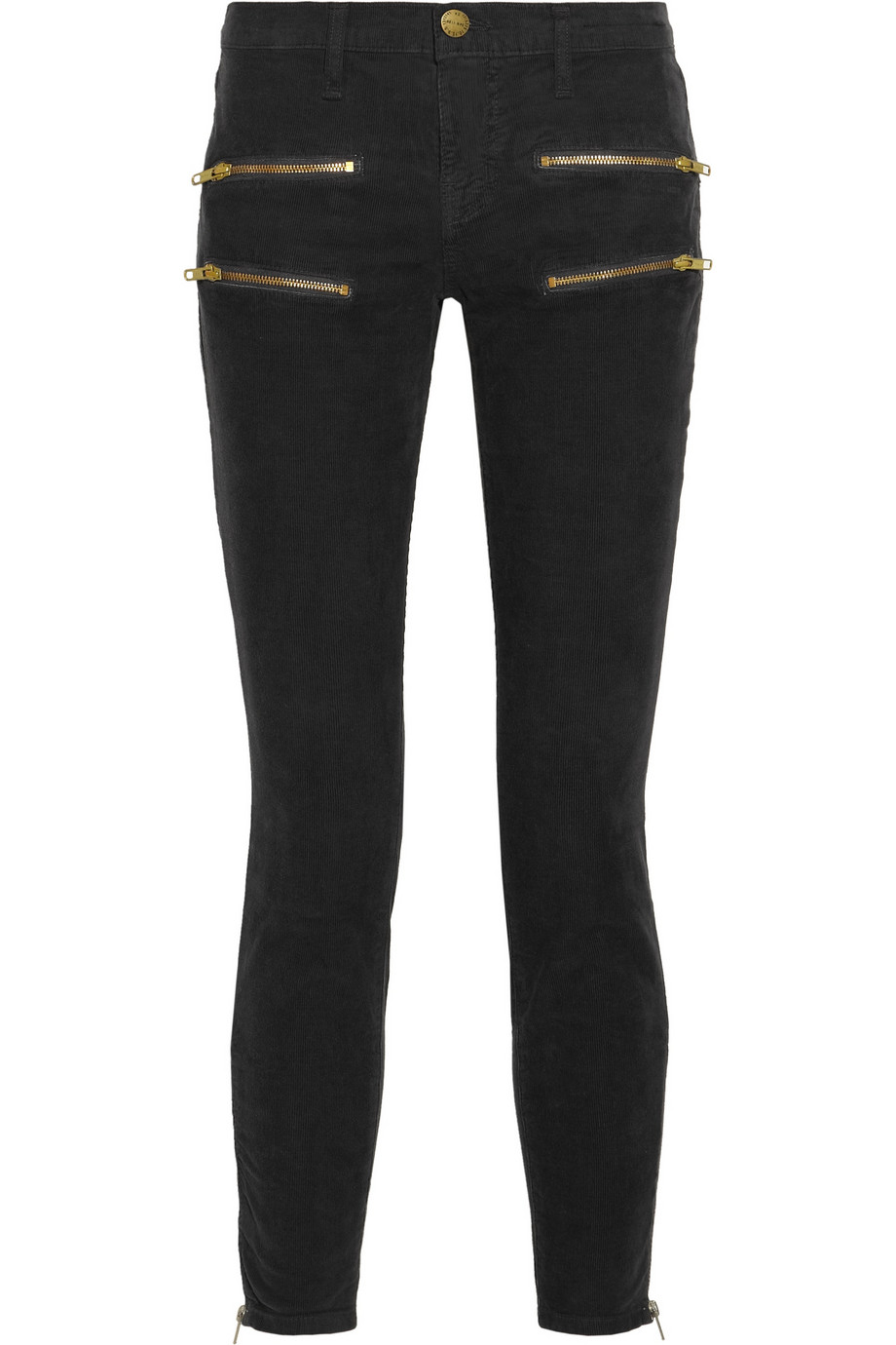 Zip Skinny Jeans - Jeans Am