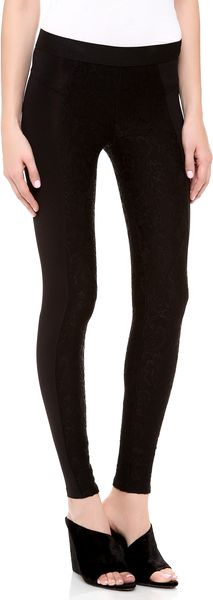David Lerner Bergen Lace Leggings - Lyst