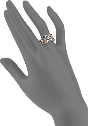 David Yurman Semiprecious Multistone Sterling Silver Ring - Lyst