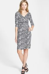 Diane Von Furstenberg Bentley Print Knit Silk Dress - Lyst