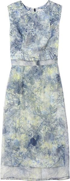 Erdem Helena Printed Silk Organza Dress - Lyst
