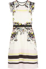 Erdem Lelani Printed Silk Dress - Lyst