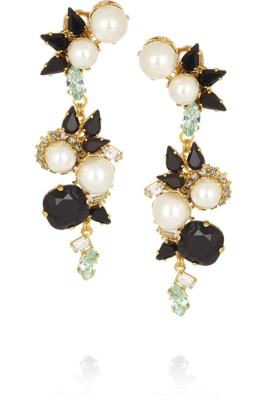 Lyst Erdem Vickisarge Goldplated Swarovski Pearl And