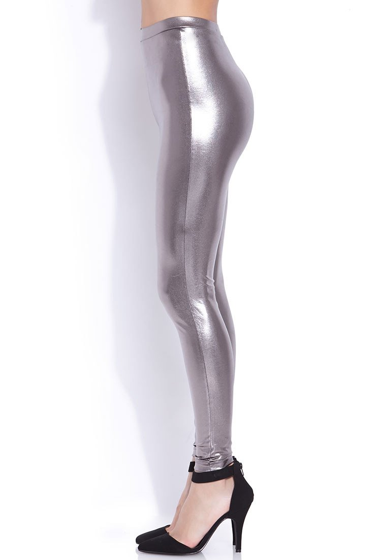 Lyst Forever 21 Must Have Liquid Leggings In Metallic