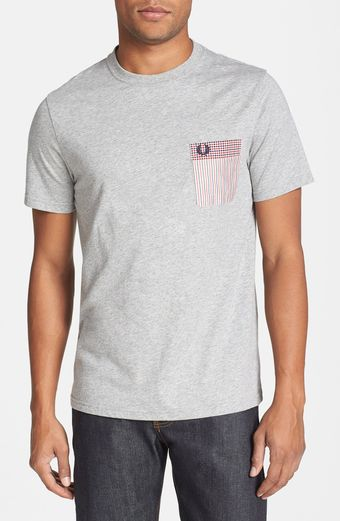 Fred Perry Pattern Pocket Slim Fit Tshirt - Lyst
