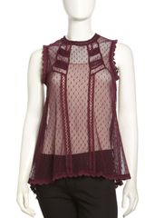 Free People Fionas Victorian Sheer Top - Lyst