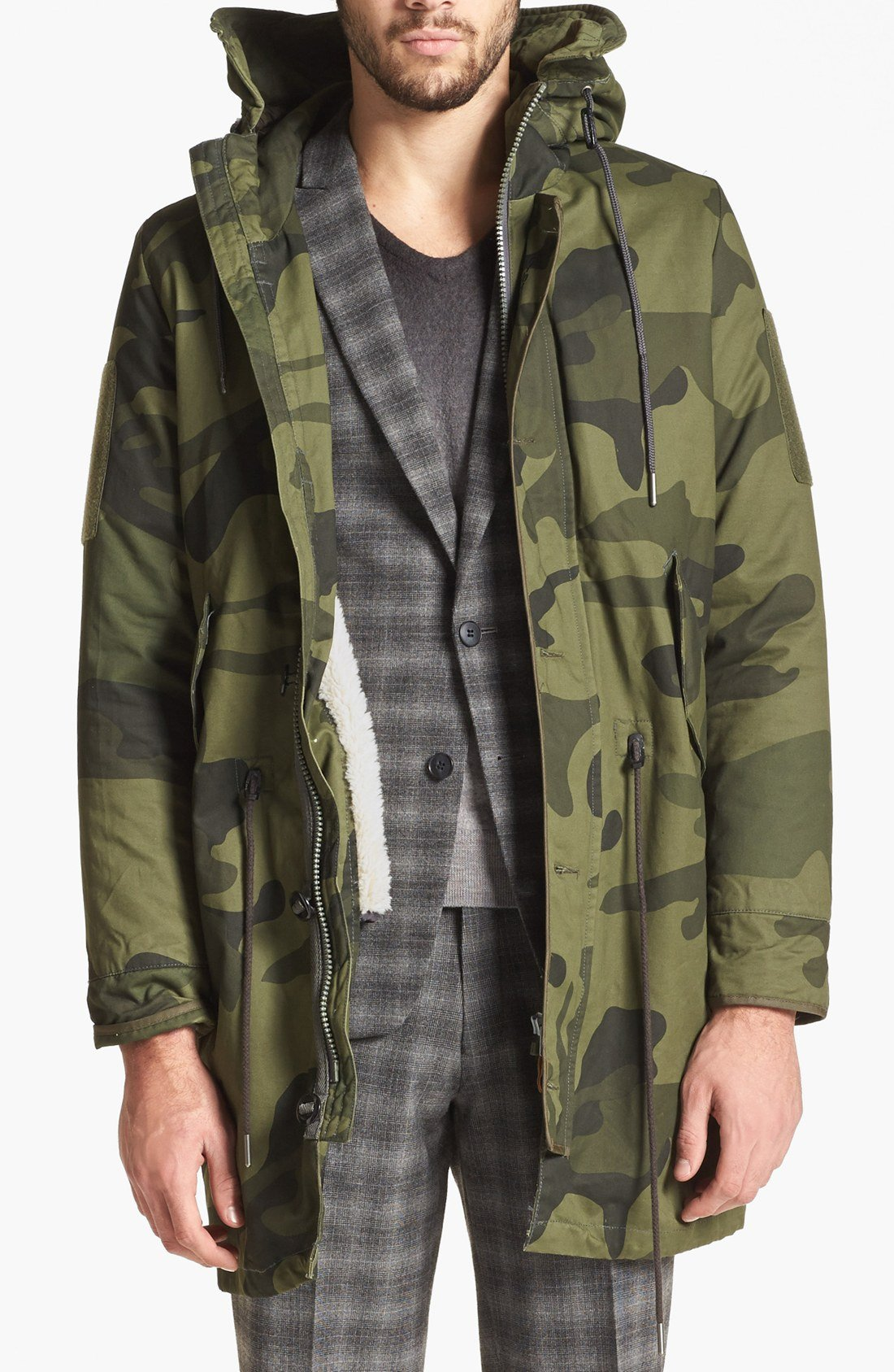 g star raw polar hdd camo fishtail parka in natural for men lyst. Black Bedroom Furniture Sets. Home Design Ideas
