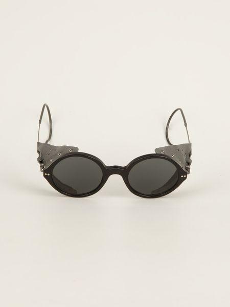 Giorgio Armani Glasses Frame Mens : Giorgio Armani Round Frame Sunglasses in Black for Men Lyst