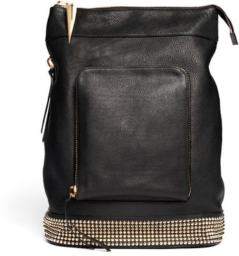 Giuseppe Zanotti Studded Leather Backpack - Lyst