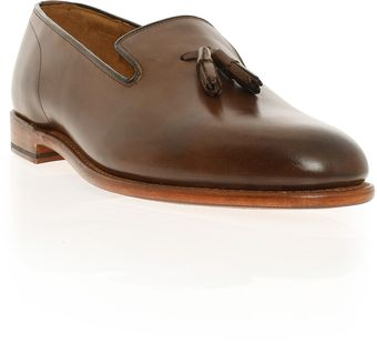 Grenson Marcel Slipper W/ Tassel Leath - Lyst
