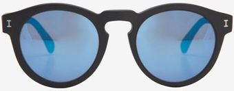 Illesteva Mirrored Lense Sunglasses Blackblue - Lyst
