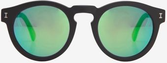 Illesteva Mirrored Lense Sunglasses Blackgreen - Lyst