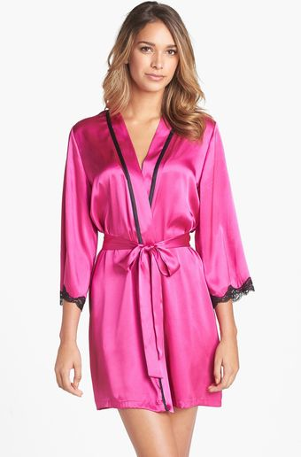 In Bloom By Jonquil Lace Trim Robe - Lyst