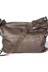 Ina Kent Tenor4 Army Leather Bag