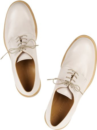 Jil Sander Leather Brogues - Lyst