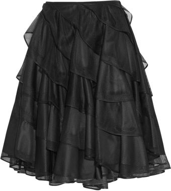 Junya Watanabe Reversible Ruffled Mesh and Taffeta Circle Skirt - Lyst