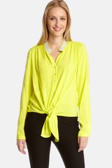 Karen Kane Shine Bright Tie Front Top - Lyst