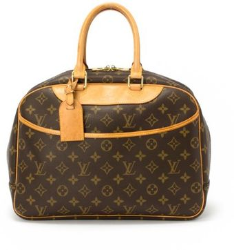 Louis Vuitton Preowned Brown Monogram Canvas Deauville Top Handle Bag - Lyst