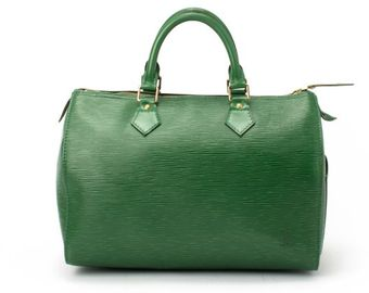 Louis Vuitton Green Epi Leather Speedy 30 Bag - Lyst
