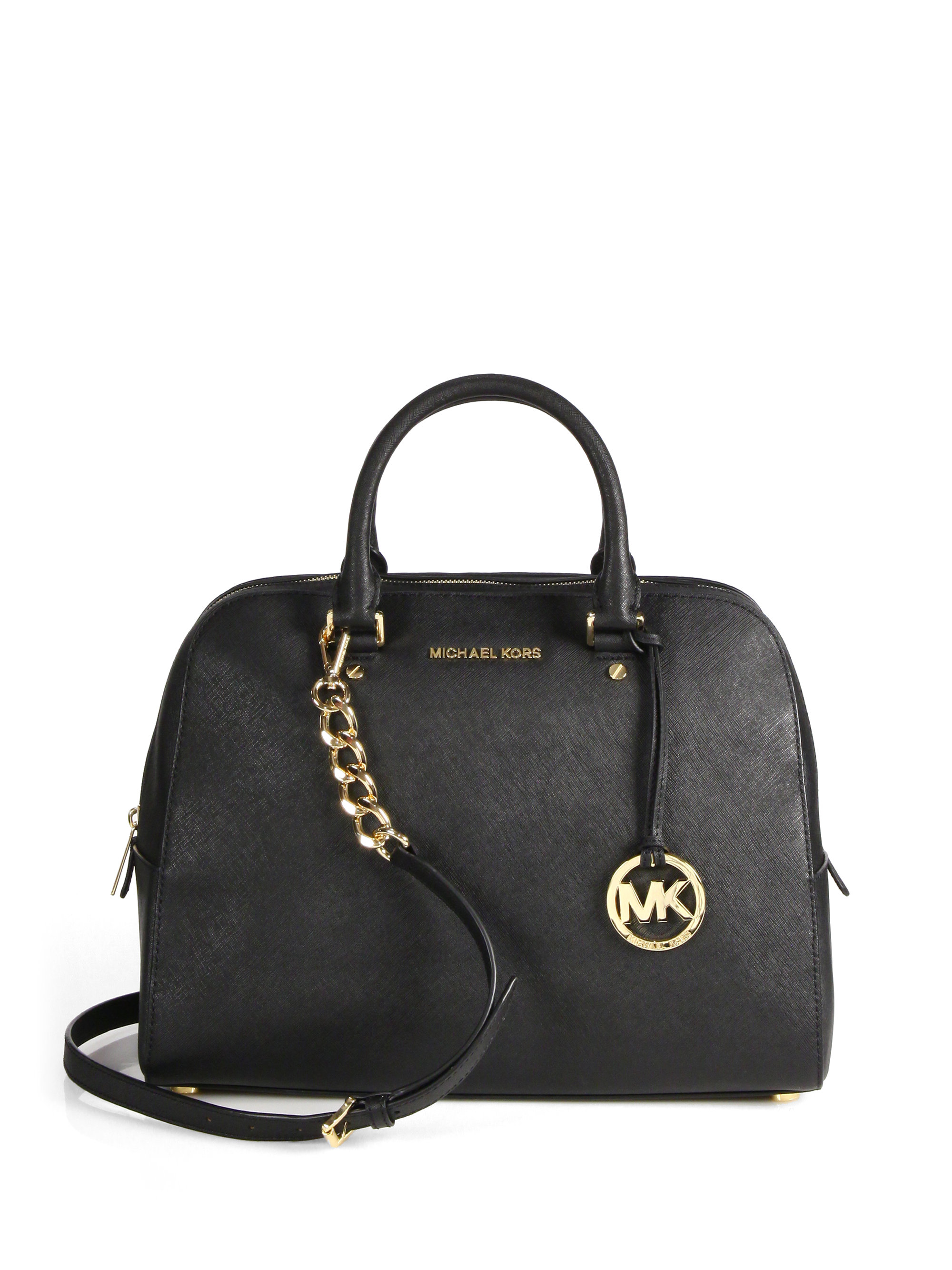 michael michael kors jet set travel satchel in black lyst. Black Bedroom Furniture Sets. Home Design Ideas