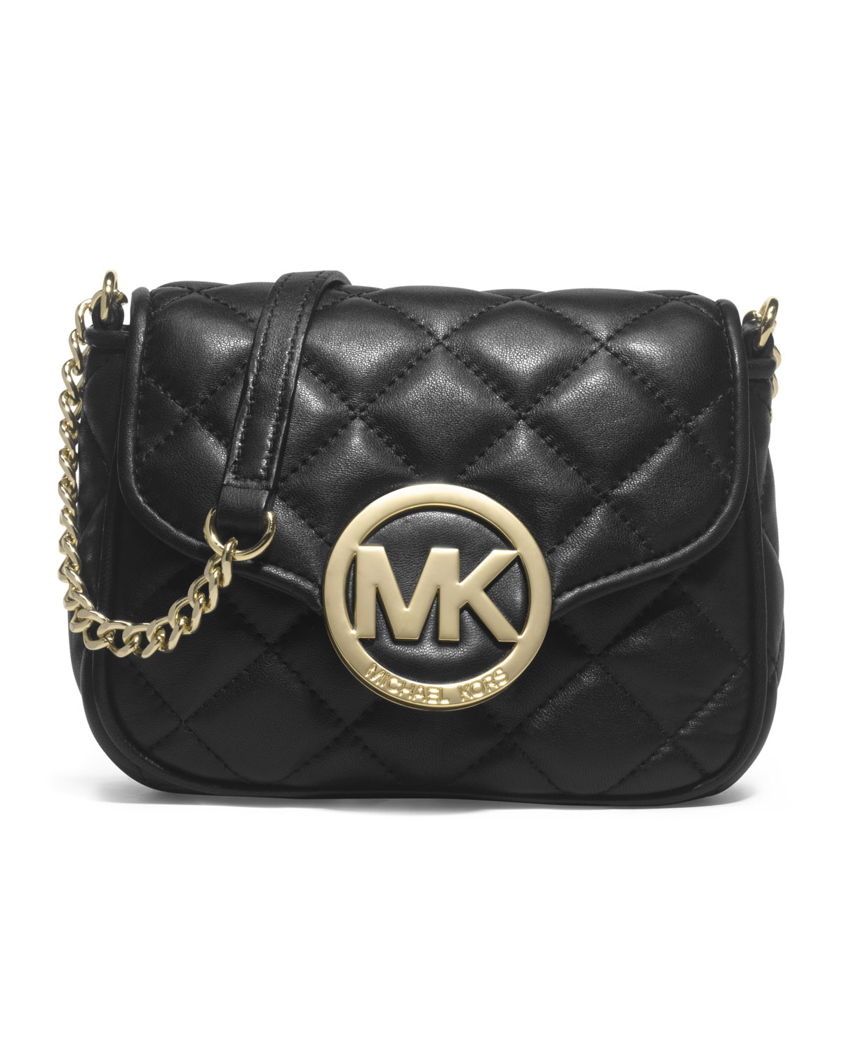 a1a25f533600 ... Bag in Black Ly Michael michael kors Small Fulton Quilted Crossbody in  Black ...