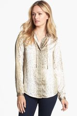 Michael by Michael Kors Chain Detail Print Blouse - Lyst
