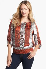 Michael by Michael Kors Dring Sleeve Print Top - Lyst