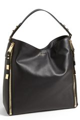 Michael Kors Miranda Zips Leather Hobo - Lyst