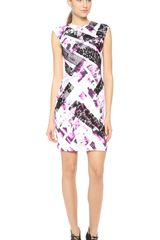 Monique Lhuillier Sleeveless Shift Dress - Lyst