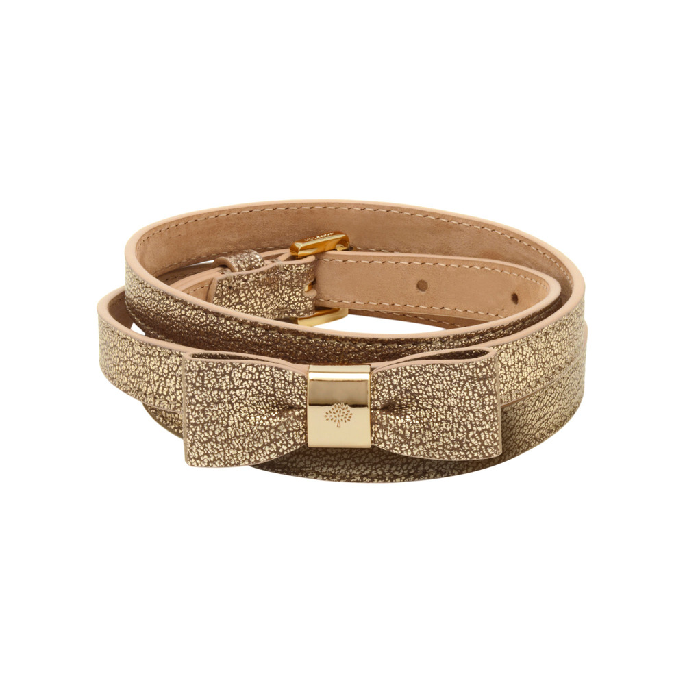 mulberry bow belt in brown lyst