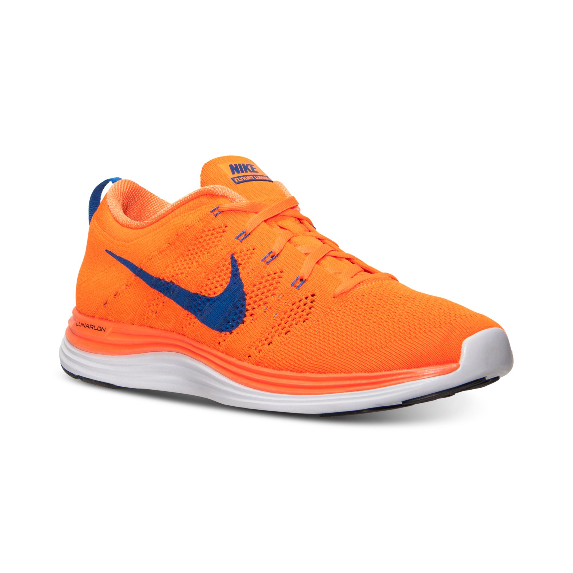 the latest ade93 64e65 Nike Flyknit Lunar 1 Running Sneakers From Finish Line in Orange for ...
