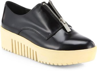 Opening Ceremony Leather Zipfront Platform Oxfords - Lyst