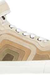 Pierre Hardy Striped Hightop Sneaker - Lyst