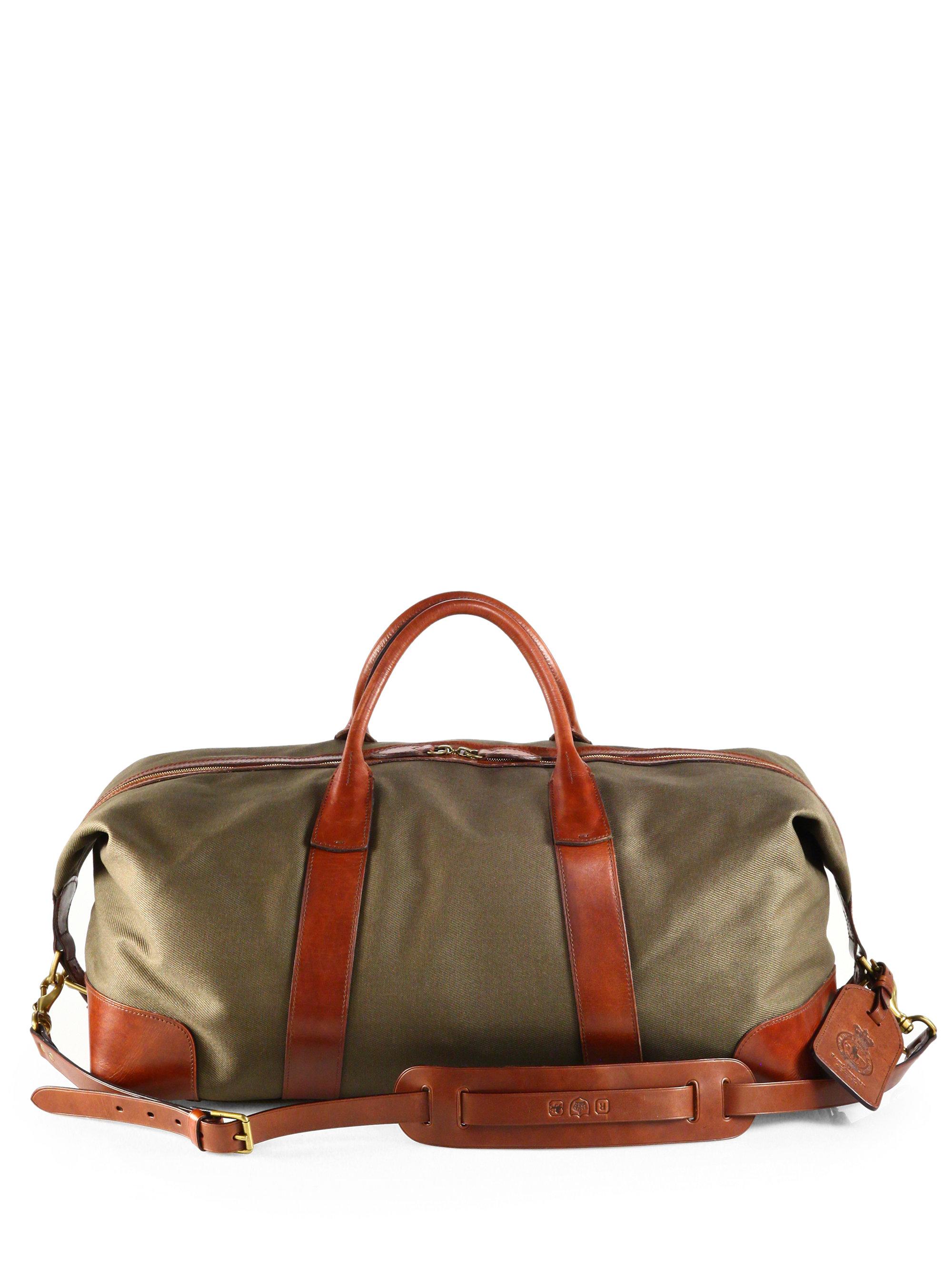... uk lyst polo ralph lauren waxed twill duffle bag in green for men 4ab0e  1699c 82e8794a1c