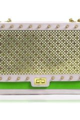 Poupee Couture Quilted Crystal Studded Shoulder Bag Pinkg - Lyst