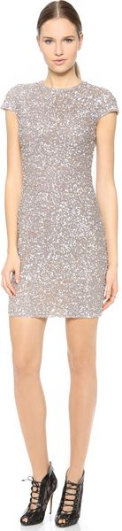Reem Acra Embroidered Cap Sleeve Dress - Lyst