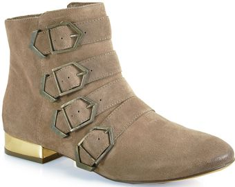 Sam Edelman Nolan Buckled Booties - Lyst