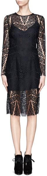 Sandro Lace Overlay Dress - Lyst