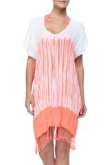 Seafolly Typhoon Striped Halfsleeve Kaftan - Lyst