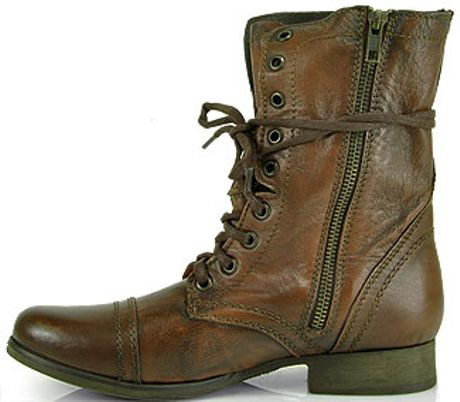 steve madden troopa combat boot in brown lyst