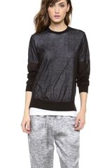 T By Alexander Wang Loose Knit Over Tee Pullover - Lyst