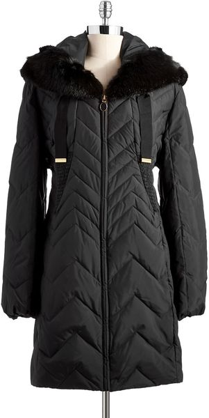 T Tahari Anna Faux Fur Hooded Jacket - Lyst