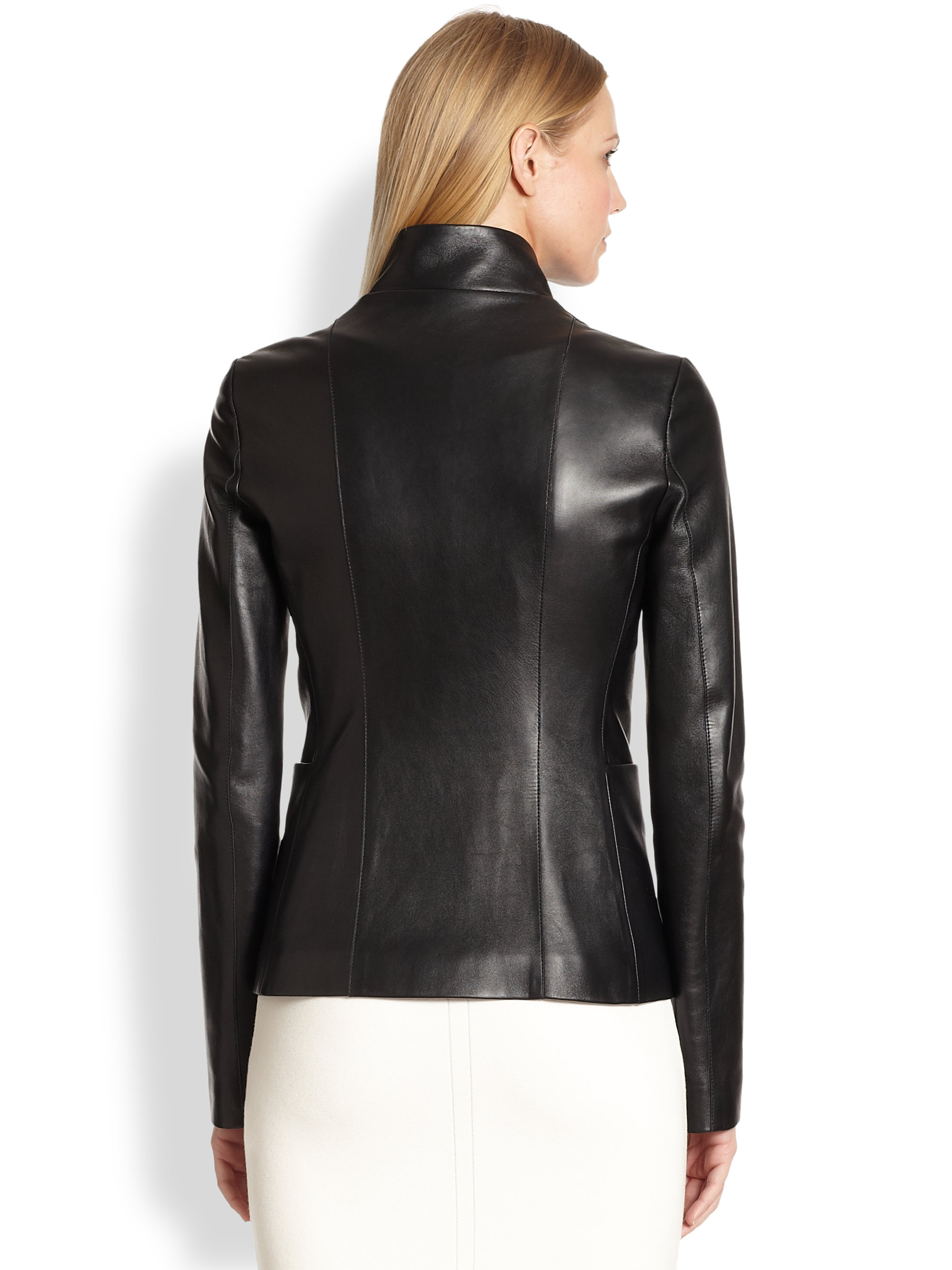 The Row Jacton Leather Jacket In Black Lyst