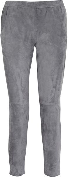 Theyskens' Theory Pandras Suede Tapered Pants - Lyst