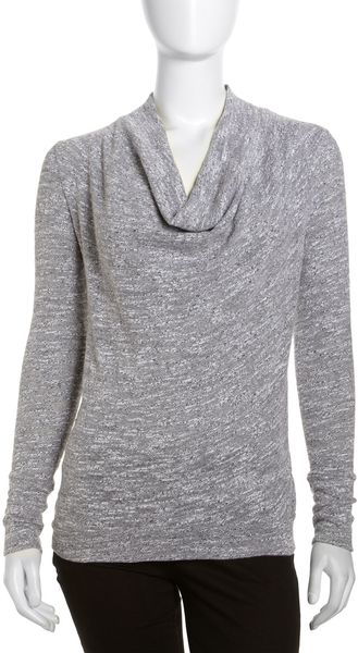 Three Dots Cowlneck Sweater White - Lyst